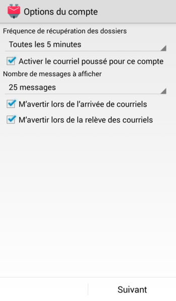 Ajout compte mail